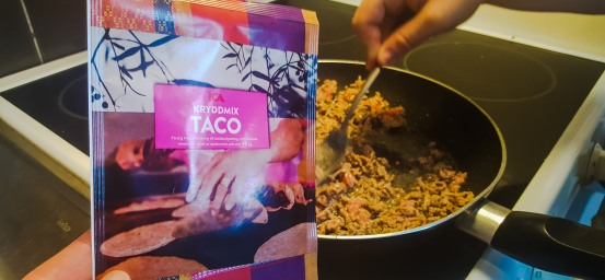 """Blandfärs cooked in a """"Taco"""" spice mix"""